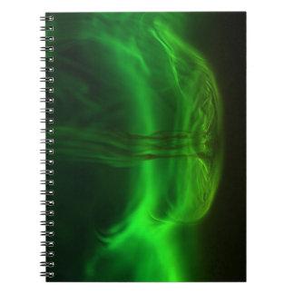 Flujo/fluoresceína en agua cuadernos