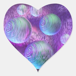 Flujo interno II - galaxia abstracta del añil y de Pegatina En Forma De Corazón