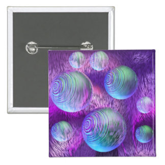 Flujo interno II - galaxia abstracta del añil y de Pin Cuadrada 5 Cm