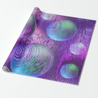 Flujo interno II, universo abstracto de la lavanda Papel De Regalo