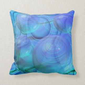 Flujo interno VI - aguamarina y galaxia azul Cojin