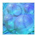 Flujo interno VI - aguamarina y galaxia azul Impresión De Lienzo