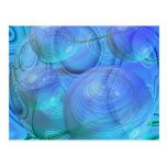 Flujo interno VI - aguamarina y galaxia azul Postal