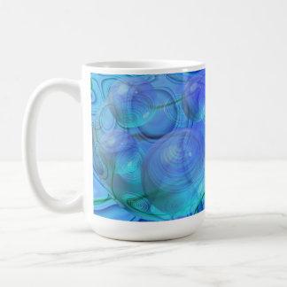 Flujo interno VI - aguamarina y galaxia azul Taza