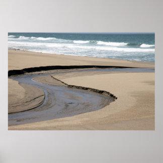 Flujo - playa de la cala de Scott Póster