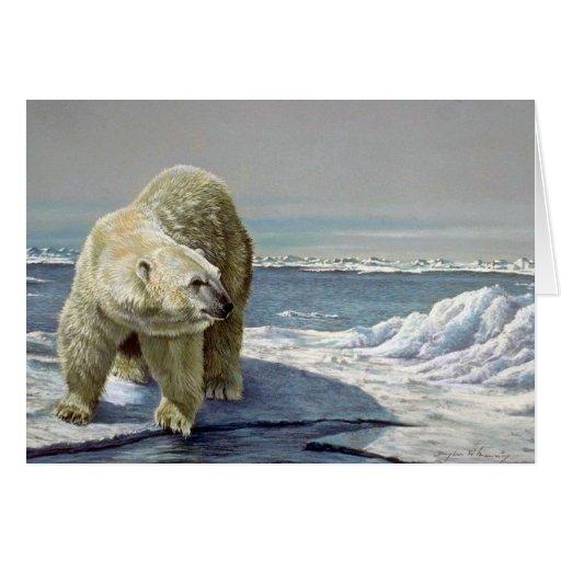 Flujo polar del hielo tarjeta de felicitación