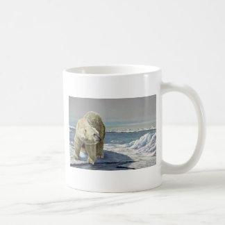Flujo polar del hielo taza básica blanca