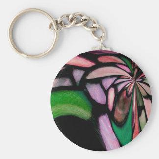 Flujo rosado de Tiffany Llavero Redondo Tipo Pin