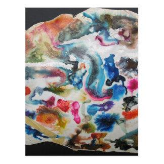 Flujos coloreados postal
