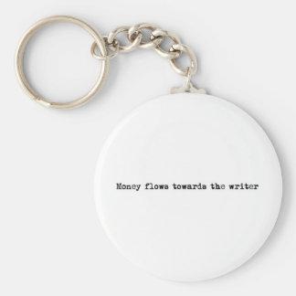 Flujos de dinero hacia el escritor llaveros personalizados