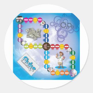 Fluke Boardgame Classic Round Sticker