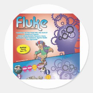 fluke game top classic round sticker