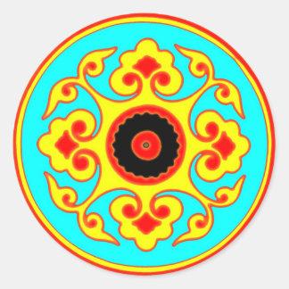 """fluke""  mandala classic round sticker"