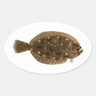 Fluke - Summer Flounder Oval Sticker