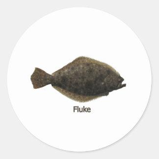 Fluke titled classic round sticker