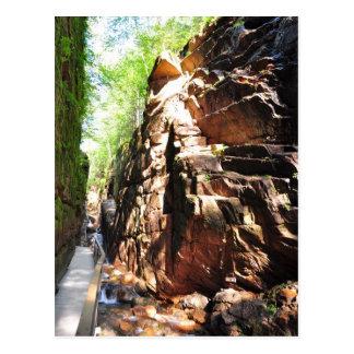 Flume Gorge Rock Formation Mug Postcard