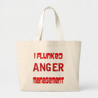 Flunked a la gestión de la cólera bolsa de mano