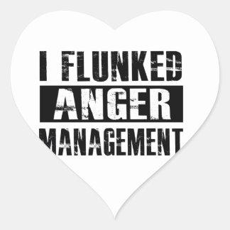 Flunked anger management heart sticker