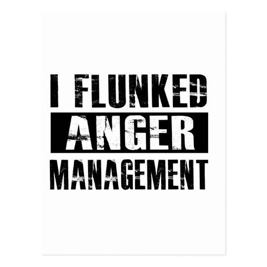 Flunked anger management postcard