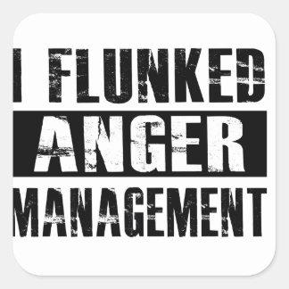 Flunked anger management square sticker