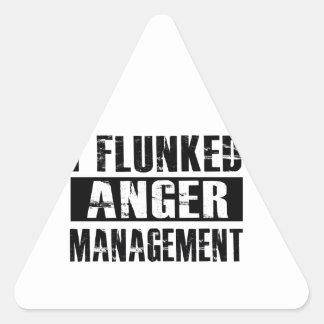 Flunked anger management triangle sticker