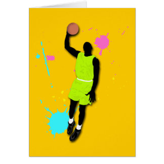 Fluo Basketball Player Card