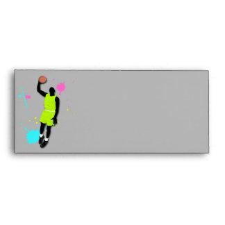 Fluo Basketball Player Envelope