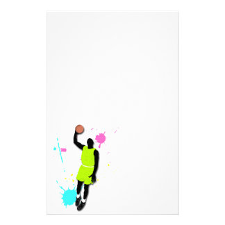 Fluo Basketball Player Stationery
