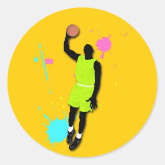 Fluo Basketball Player Sticker