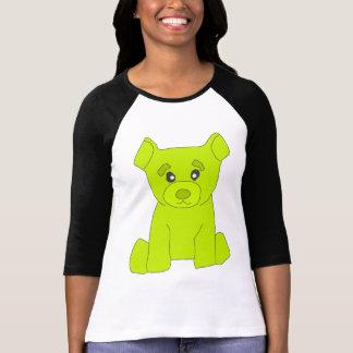 Fluo Green Bear Women 3/4 Sleeve T-Shirt