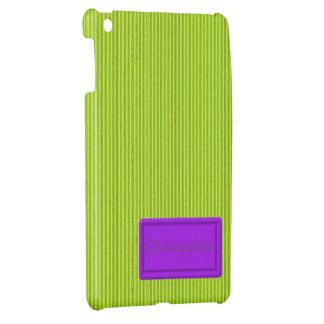 Fluo Green Cardboard iPad Mini Case Template