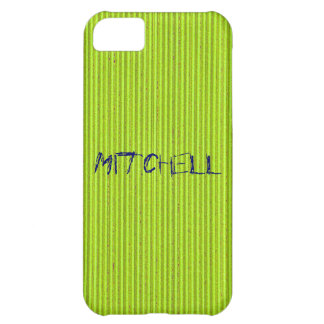 Fluo Green Cardboard iPhone 5 Cover Template
