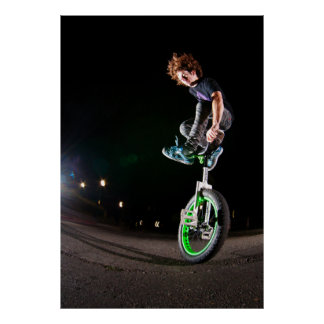 Fluo Jump Poster