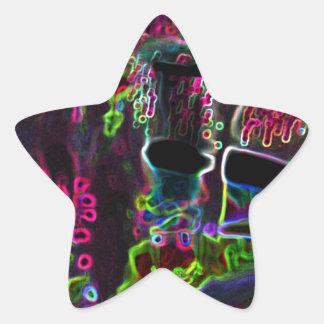 Fluo Pegatina En Forma De Estrella