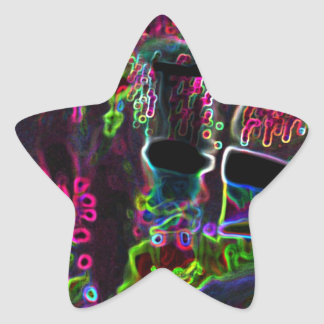 Fluo Star Sticker