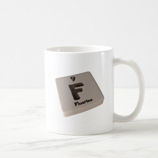 Flúor de F Tazas De Café