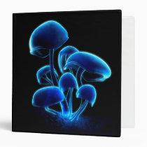 fluorescence, mushrooms, Fichário com design gráfico personalizado