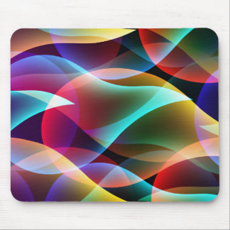 Fluorescence Colorful Abstract Mousepad