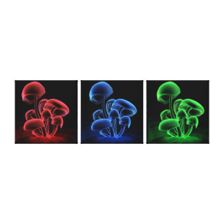 Fluorescence Triptych (Together) Canvas Print