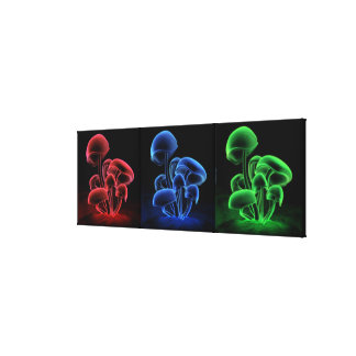 Fluorescence Tryptych Gallery Wrapped Canvas