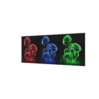Fluorescencia Tryptych Impresiones En Lona