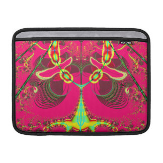 Fluorescent Alien Lady Bug Fractal MacBook Sleeve