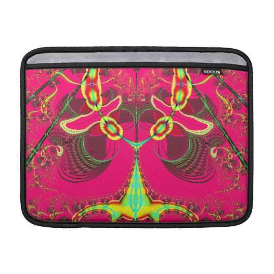 Fluorescent Alien Lady Bug Fractal MacBook Sleeve