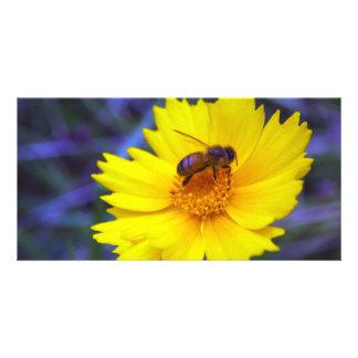 Fluorescent Bee Customized Photo Card