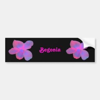 Fluorescent Begonia Customizable Bumper Sticker