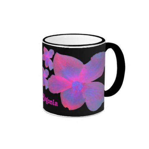 Fluorescent Begonia Customizable Mug