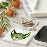 Fluorescent Cartoon Cat Acrylic Keychain