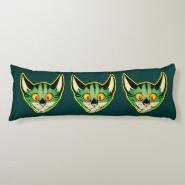 Fluorescent Cartoon Cat Body Pillow