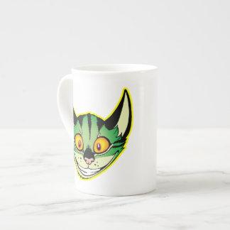 Fluorescent Cartoon Cat Bone China Mug