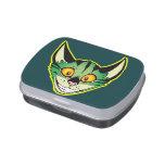 Fluorescent Cartoon Cat Candy Tin